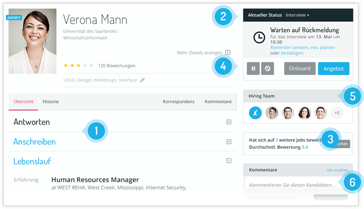 applicant tracking control