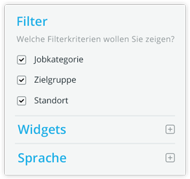 Filter - Choose the filter criteria you want to show