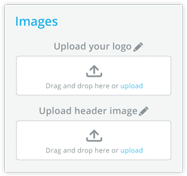 Images - Upload your logo and header
