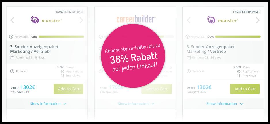 Abonnenten erhalten bis zu 38% auf jeden Kauf