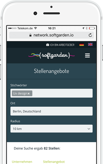 softgarden Network Job Search