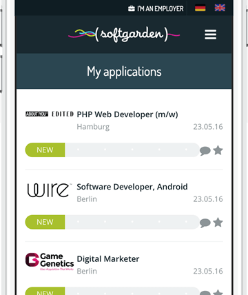 softgarden Network - My Jobs