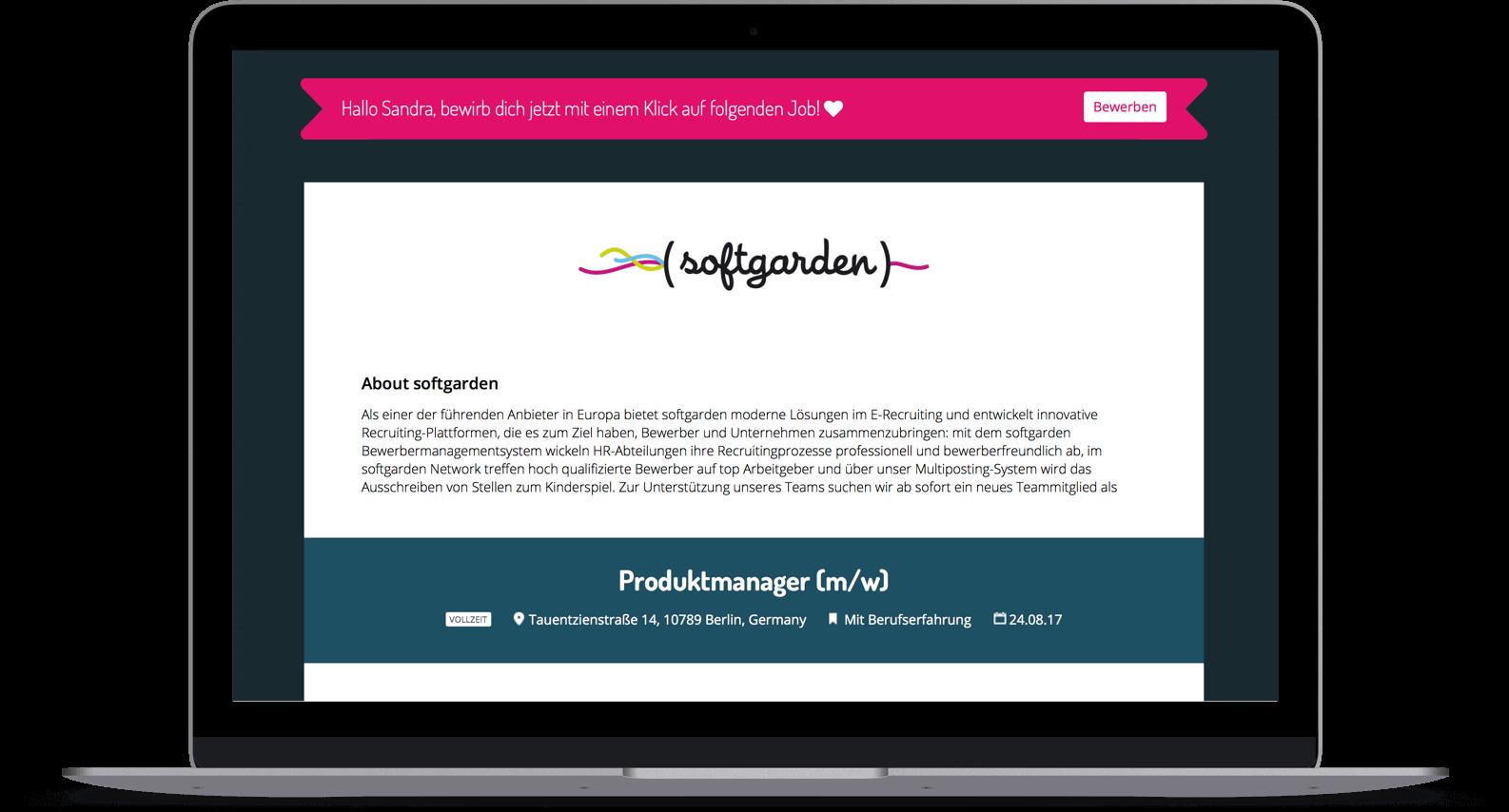 softgarden Talent Network - Bewerber profitieren vom softgarden Network