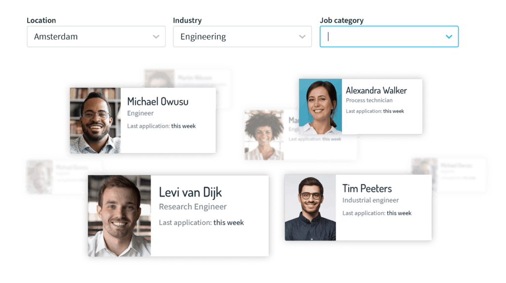 filter candidates in talent network